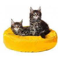 Бескаркасный лежак для котов, ткань Оксфорд, круглый, фото 1