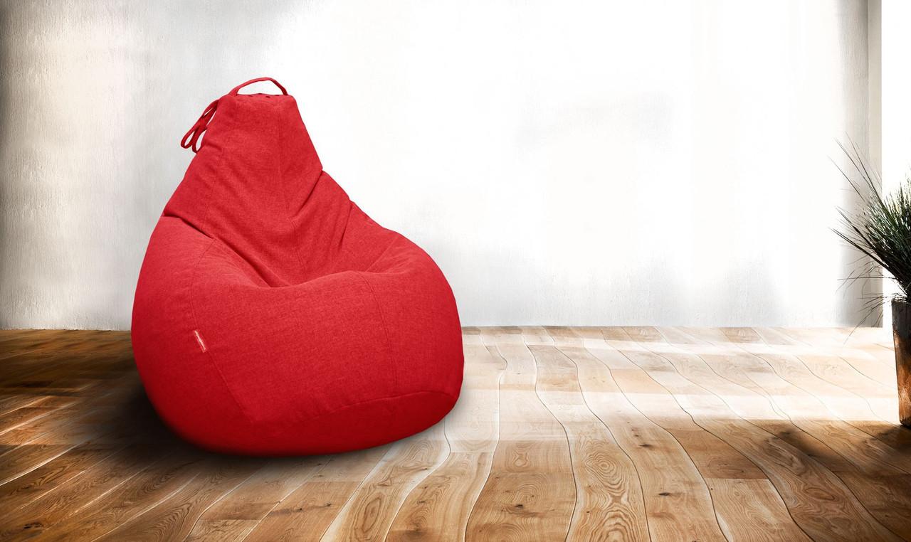 Величезне Крісло-мішок груша Мікро-рогожка 100*140 см