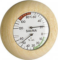 Термогигрометр для сауны TFA, дерево, d=135 мм