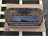 Решетка радиатора на Audi A6 RS6 (2014-...) Quattro, фото 3