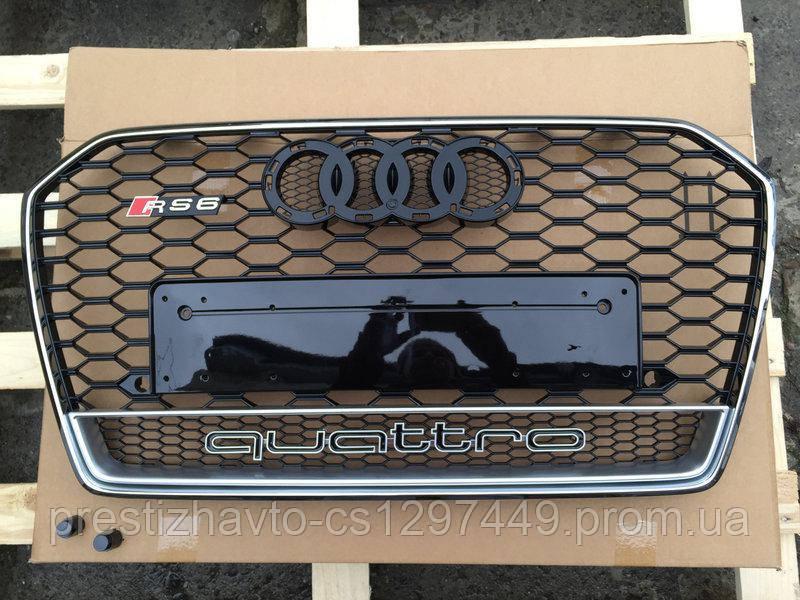 Решетка радиатора на Audi A6 RS6 (2014-...) Quattro