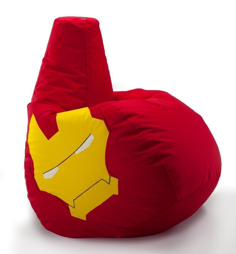 Кресло-мешок, груша Железный человек. Оксфорд 85*105 см. С дополнительным чехлом