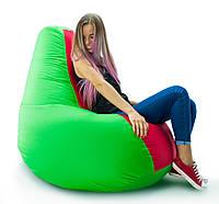 Огромное Кресло-мешок груша Комби. Оксфорд 100*140 см. С дополнительным чехлом