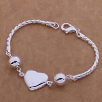 Браслет Подарок с сердечком покрытие 925 серебро проба