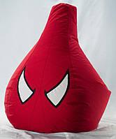 Большое Кресло-мешок груша Человек Паук. Оксфорд 90*130 см. С дополнительным чехлом