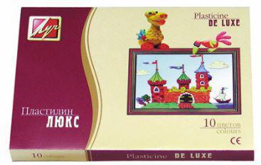 Пластилин 10 цв. ЛУЧ ЛЮКС 14С 1034-08