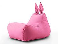 Крісло мішок Зайчик рожевого кольору з внутрішнім чохлом, фото 1