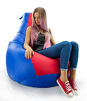 Огромное Кресло-мешок груша Комби. Оксфорд 300 D 100*140 см.