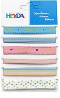 Набор ленточек из ткани Детские, 6шт., 0,6-1,2см, 90см, Heyda