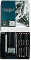 Карандаши чернографитные простые CRETACOLOR набор 20предм в метал кор Black Box 40030