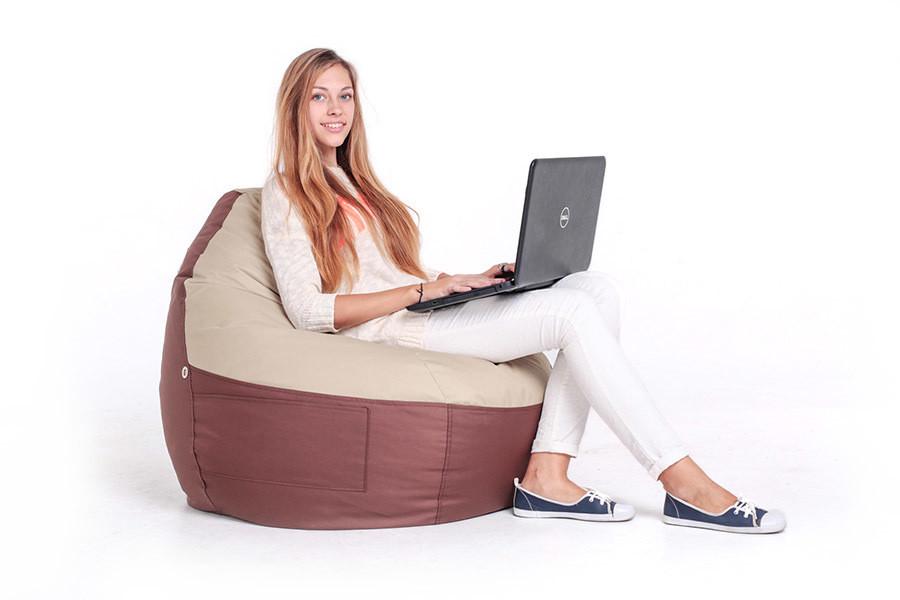 Кресло-мешок, груша Комфорт. Микро-рогожка 110*70см. С дополнительным чехлом