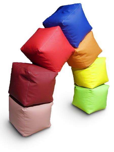 """Кресло мешок, пуфик, кубик. Эко-кожа """"Зевс"""" 50*50*50 см"""