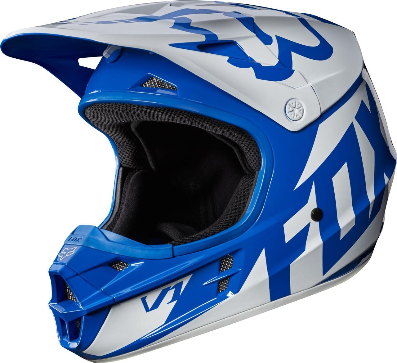 Мотошлем Fox V1 Race ECE [BLU] синий, S
