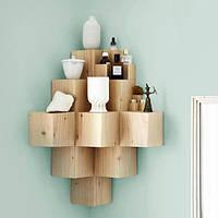 Полочка из деревянных кубиков