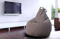 Огромное кресло-мешок груша Микро-рогожка 100*140см. С дополнительным чехлом