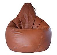 """Овальне крісло - мішок груша Еко-шкіра """"Зевс"""" 85*105 см"""
