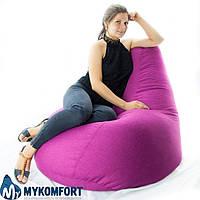 Кресло-мешок груша Микро-рогожка 85*105 см. С дополнительным чехлом, фото 1
