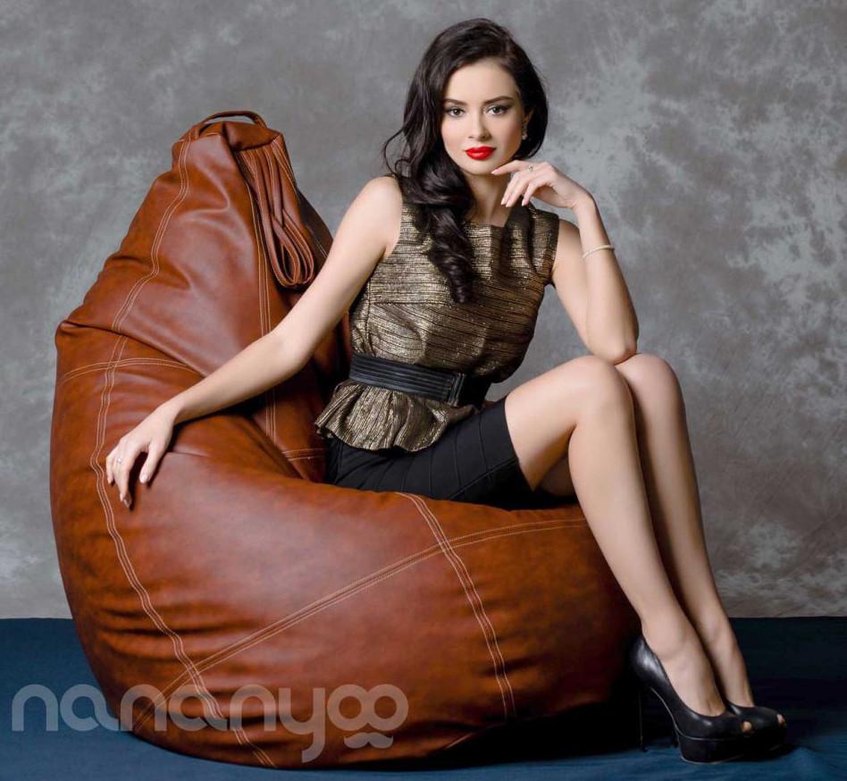 """Огромное кресло-мешок груша Эко-кожа """"Зевс"""" 100*140см С дополнительным чехлом"""
