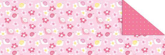 Калька URSUS А4 115г/м Baby Розовая мотив Цветы и улитки UR-53364604R