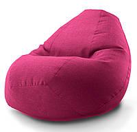 Овальне крісло - мішок груша Мікро-рогожка 85*105 см З додатковим чохлом, фото 1