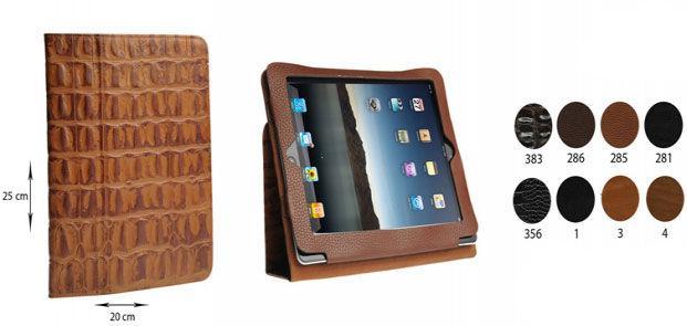 Чехол для iPad натуральная кожа Bond 203-541 Лазер черная
