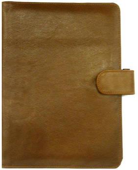 Обложка кожаная для ежедневника А5 Bond_??? кожа гладкая темно-коричневая