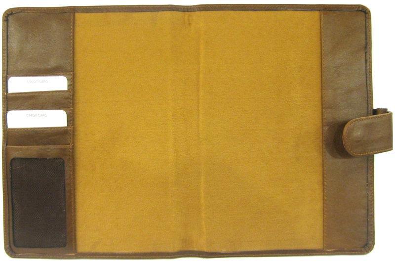 Обложка кожаная для ежедневника А5 Bond_723 кожа волны черная