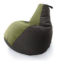 Большое Кресло-мешок груша Комби. Микро-рогожка 90*130 см, фото 1
