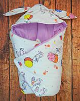 """Зимний конверт для новорожденного. Конверт-одеяло """"Зайчик""""на выписку"""