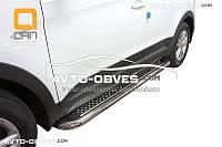 Боковые подножки ступеньки для Hyundai Creta 2016-... , Ø 42 \ 51 \ 60 мм