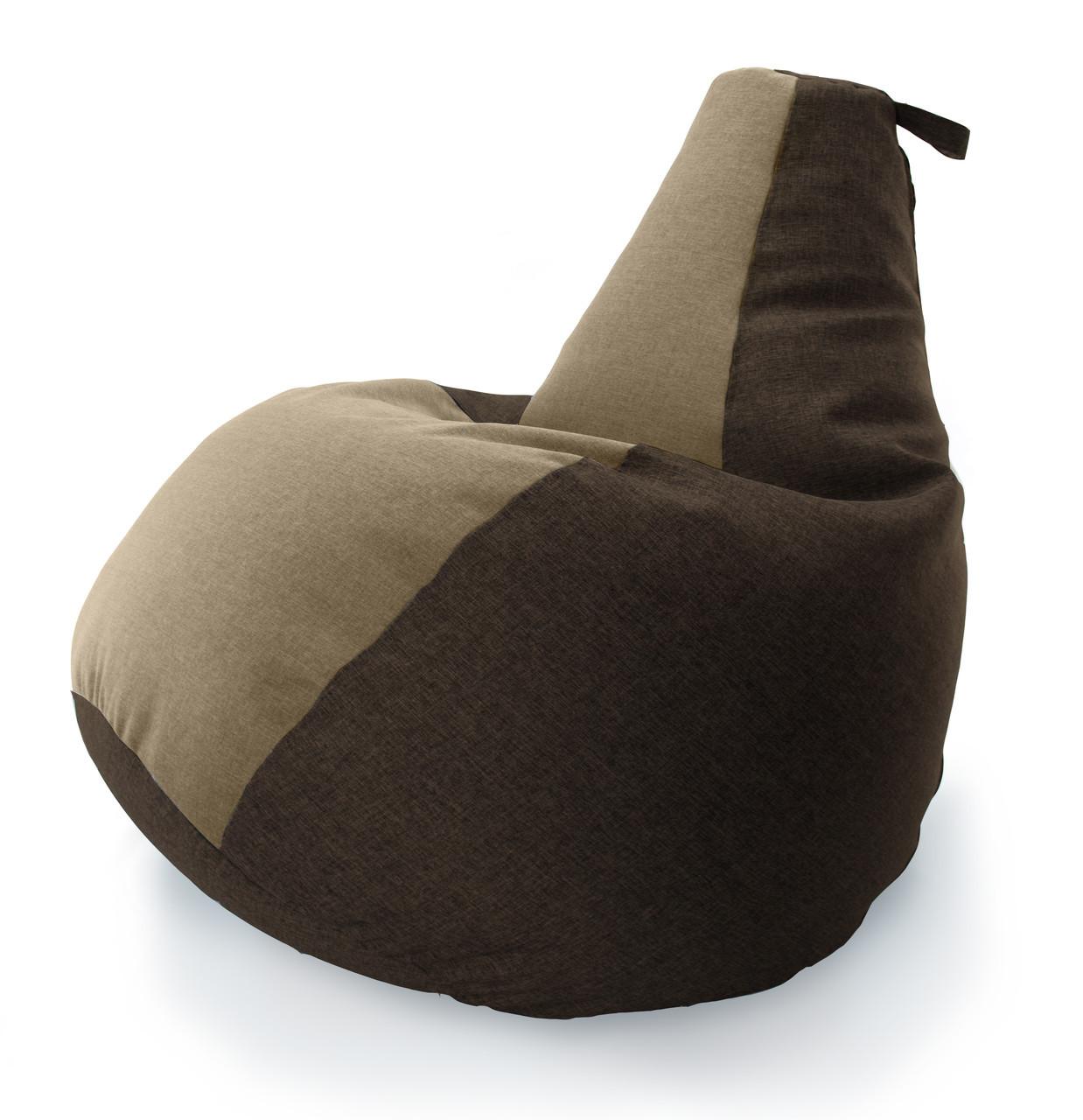 Большое Кресло-мешок груша Комби. Микро-рогожка 90*130 см