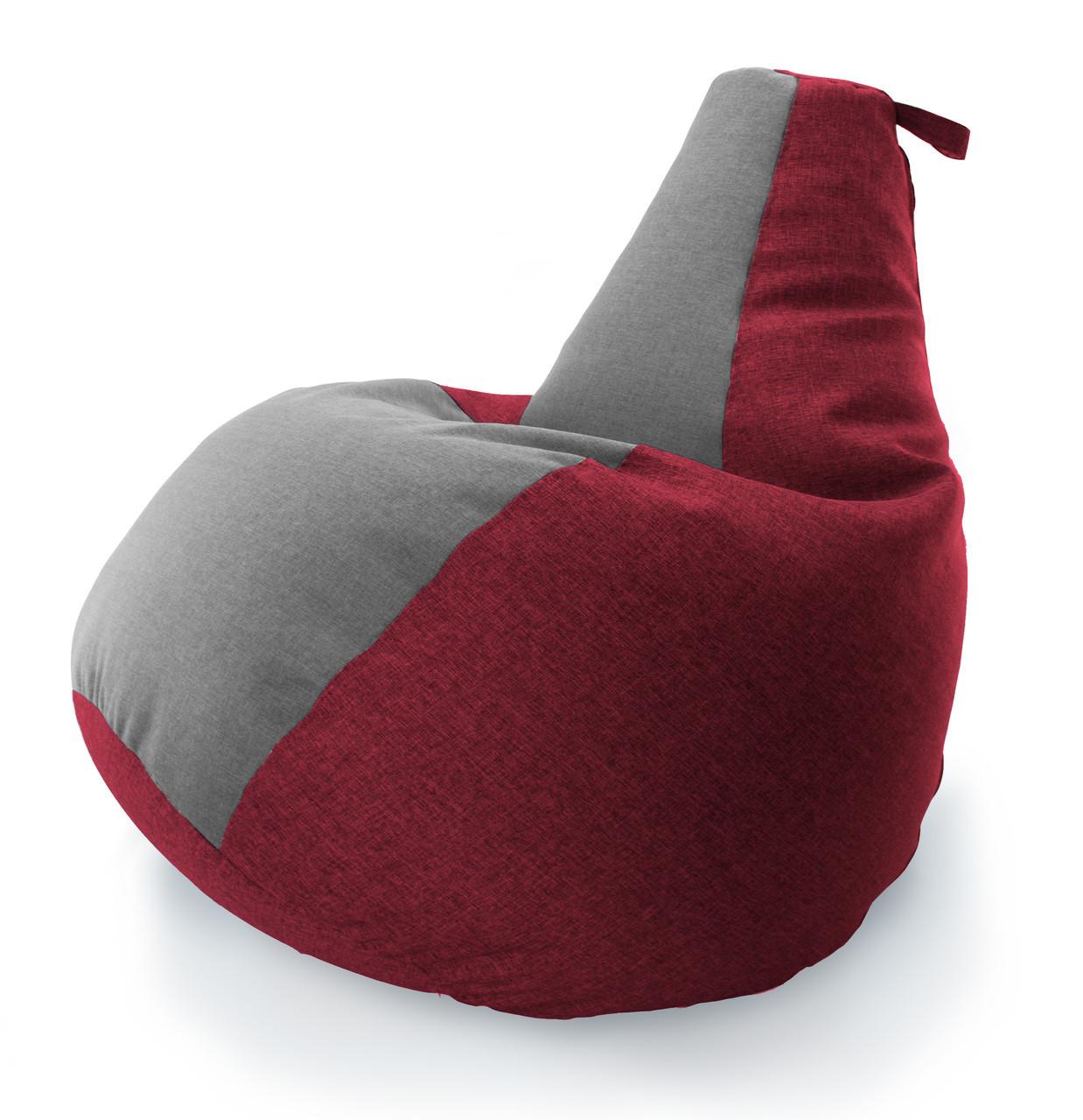 Велике Крісло-мішок груша Комбі. Мікро-рогожка 90*130 див. З додатковим чохлом