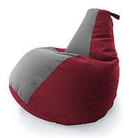 Велике Крісло-мішок груша Комбі. Мікро-рогожка 90*130 див. З додатковим чохлом, фото 1