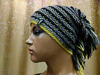 Меланжевая молодежная шапка Shaggy II TM Loman,  полушерстяная, цвет серый с черным и желтым, фото 1