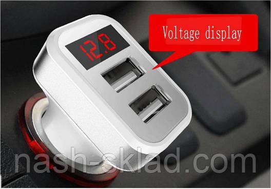 АЗУ с индикатором напряжения и тока (2 USB 5V 3.4), фото 2