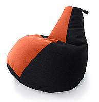 Огромное Кресло-мешок груша Комби. Микро-рогожка 100*140 см. С дополнительным чехлом, фото 1