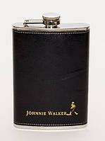 Фляга в чехле Johnnie walker 270 мл в кожаном чехле
