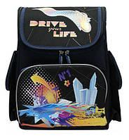 Рюкзак (ранец) школьный каркасный Dr.Kong TA002 Drive yoyr Life мягкая спинка 35,5*26*13