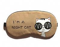 Маска для сна Night cat brown