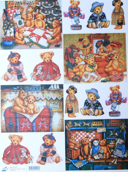 Декупажная карта-бумага 30*40см Медвежонок игрушки-2 7719