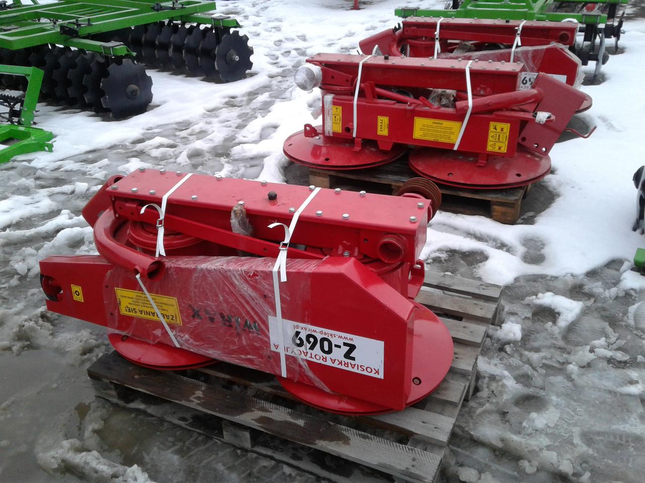 Косарка косилка роторна на мінітрактор 1,35 м Wirax Польща