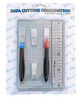 Набор для моделирования 2015: коврик самовосстанавливающийся, 2 макетных нож, сменные лезвия, DAFA