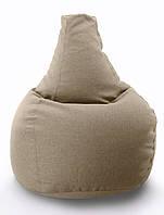 Огромное кресло-мешок груша Микро-рогожка 100*140см., фото 1
