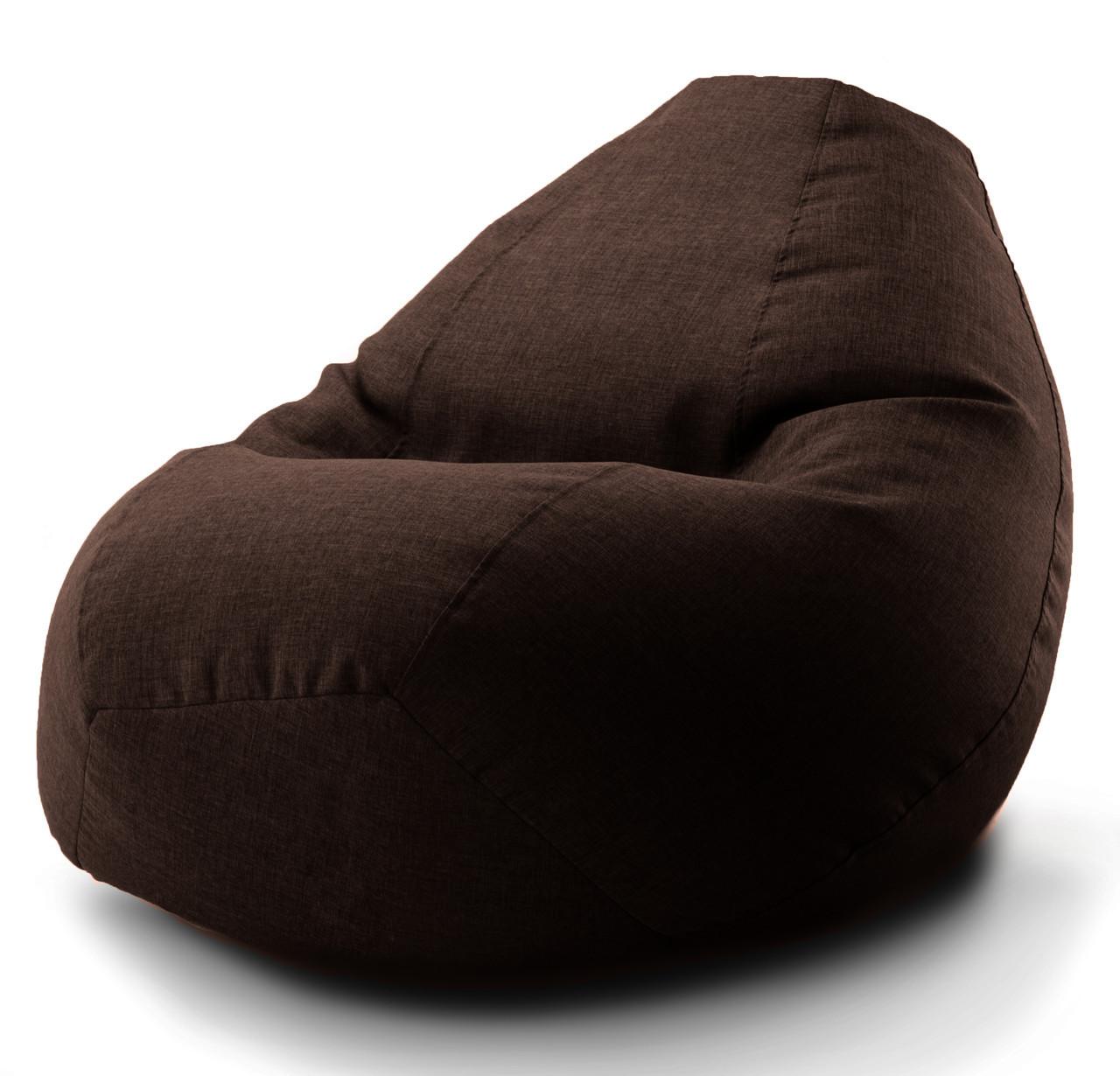 Большое овальное кресло-мешок, груша Микро-рогожка 90*130 см