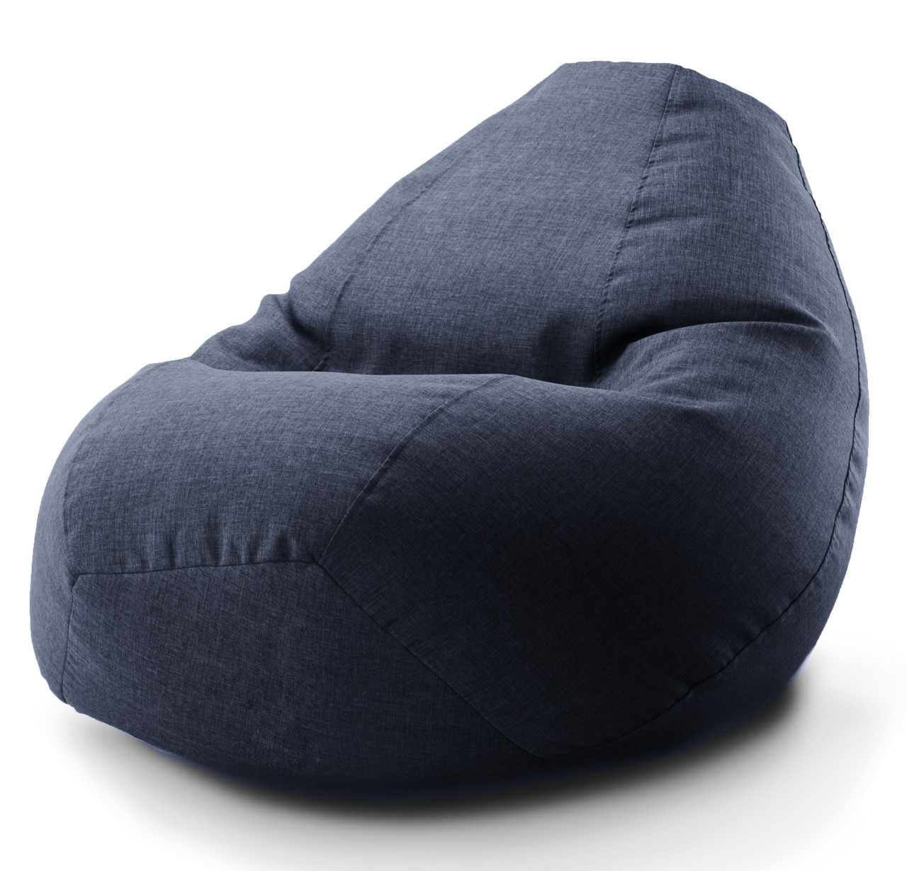 Огромное овальное кресло-мешок, груша Микро-рогожка 100*140 см.