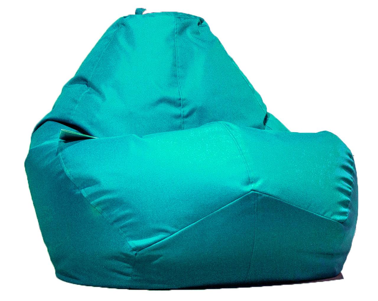 Огромное овальное кресло-мешок, груша Оксфорд 300 D 100*140 см. С дополнительным чехлом