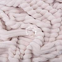 Плюш в полоску Stripes, цвет слоновой кости с холодным оттенком