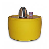 """Кресло мешок, журнальный столик, бескаркасный столик. Эко-кожа """"Зевс"""" 45 см, фото 1"""