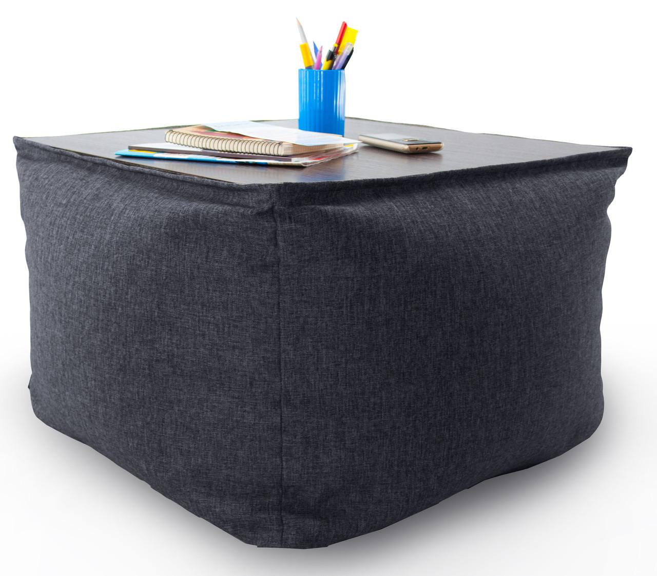 Кресло мешок, журнальный столик, бескаркасный столик. Микро-рогожка 65 см