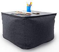 Кресло мешок, журнальный столик, бескаркасный столик. Микро-рогожка 65 см, фото 1